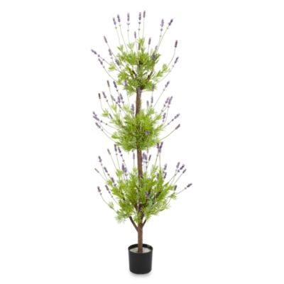 Nearly Natural 4-Foot Lavender Topiary Silk Tree