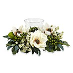 Nearly Natural Magnolia Candelabrum Silk Flower Arrangement