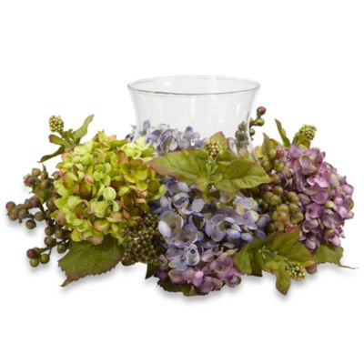 Nearly Natural Mixed Hydrangea Candelabrum Silk Arrangement