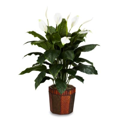 Nearly Natural Spathyfillum with Vase Silk Plant