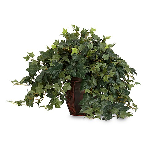 Nearly Natural Puff Ivy with Decorative Vase