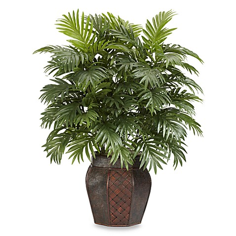 Nearly Natural Areca Palm with Vase Silk Plant