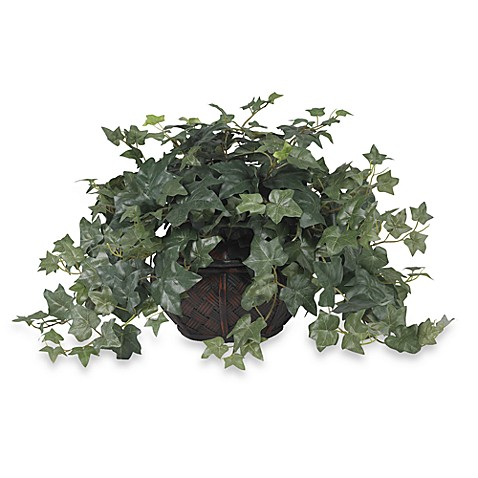 Nearly Natural Puff Ivy w/ Vase Silk Plant