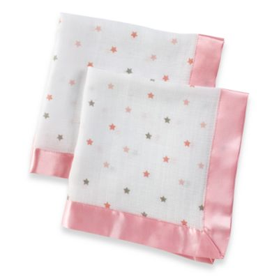 aden® by aden + anais® Muslin Comfort Issie Security Blanket in Moochy Pink Star