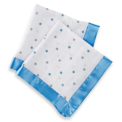aden® by aden + anais® Muslin Comfort Issie Security Blanket in Luke Blue Star