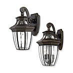 Quoizel Lighting Georgetown Outdoor Wall Lanterns in Imperial Bronze