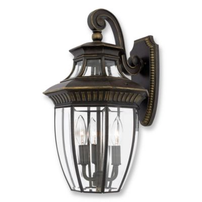 Quoizel Georgetown 3-Light Outdoor Fixture in Imperial Bronze