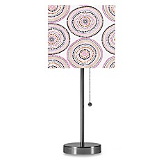 Brushed Steel Table Lamp with Medali Multi Shade