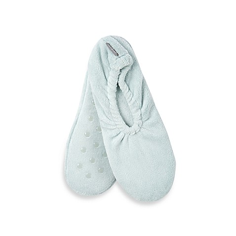 Microdry® Pure Performance Spa Memory Foam Footies in Blue