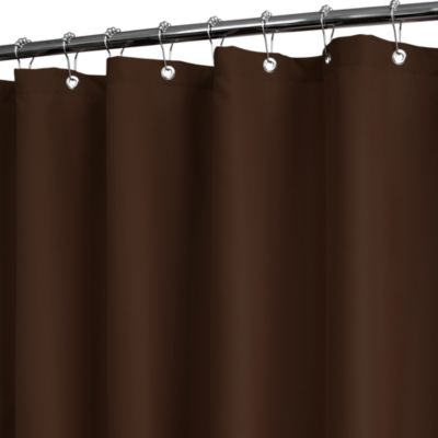 Park B. Smith® Dorset Solid Coffee 72-Inch x 72-Inch Watershed® Shower Curtain