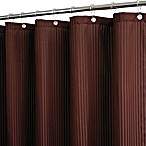 Park B. Smith® Satin Stripe Coffee 72-Inch x 72-Inch Watershed® Shower Curtain