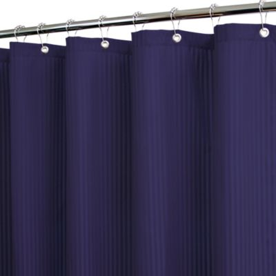 Park B. Smith® Satin Stripe Blue 72-Inch x 72-Inch Watershed® Shower Curtain