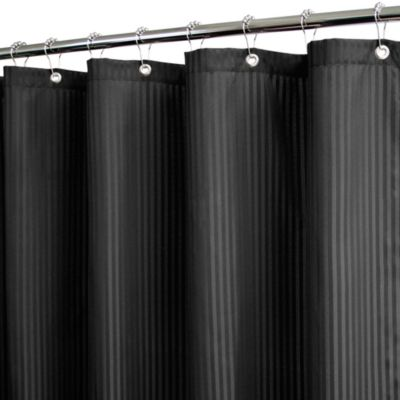 Park B. Smith® Satin Stripe Black 72-Inch x 72-Inch Watershed® Shower Curtain w/Hooks