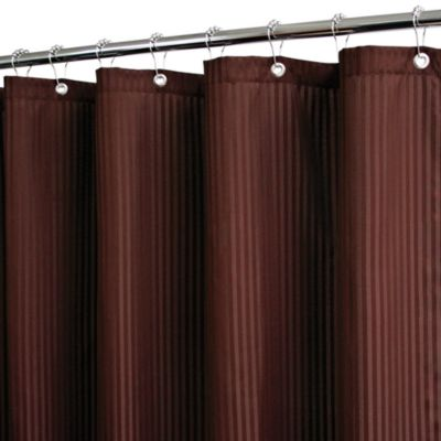 Park B. Smith® Satin Stripe Coffee 72-Inch x 72-Inch Watershed® Shower Curtain w/Hooks