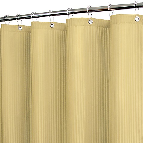 Park B. Smith® Satin Stripe Sahara 72-Inch x 72-Inch Watershed® Shower Curtain w/Hooks