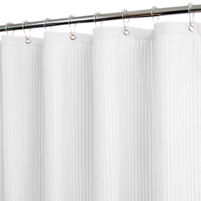 Park B. Smith® Satin Stripe White 72-Inch x 72-Inch Watershed® Shower Curtain w/Hooks