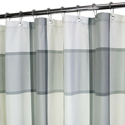 Park B. Smith® Baja Yarn-Dyed Portman Platinum 72-Inch x 72-Inch Watershed® Shower Curtain