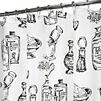 Park B. Smith® Barber Shop Black & White 72-Inch x 72-Inch Watershed® Shower Curtain