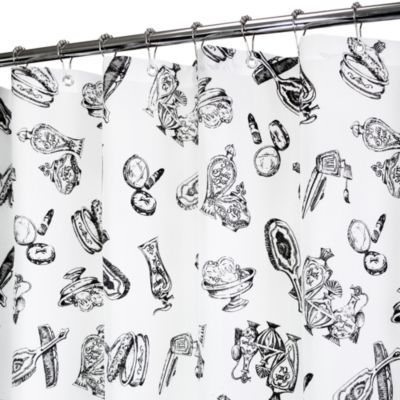 Park B. Smith® Beauty Shop Black & White 72-Inch x 72-Inch Watershed® Shower Curtain