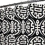Park B. Smith® Eko Black & White 72-Inch x 72-Inch Watershed® Shower Curtain