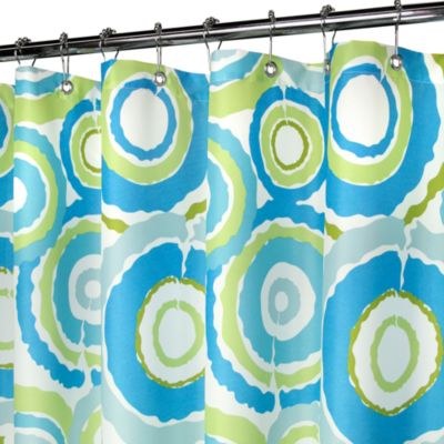 "Park B. Smith® Groovy Circles Blue 72"" x 72"" WaterShed® Shower Curtain"