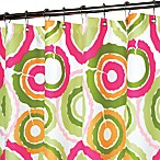 Park B. Smith® Groovy Circles Tangelo 72-Inch x 72-Inch Watershed® Shower Curtain