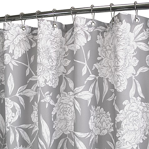 Park B. Smith® Peony Silver 72-Inch x 72-Inch Watershed® Shower Curtain
