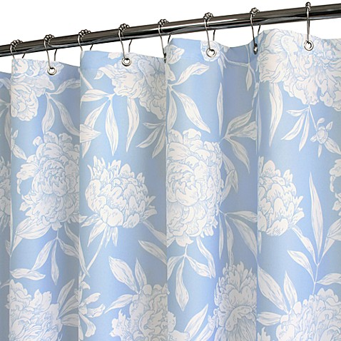 Park B. Smith® Peony Sky 72-Inch x 72-Inch Watershed® Shower Curtain