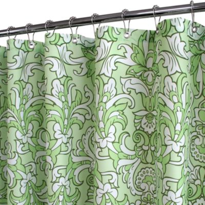 Park B. Smith® Rococo Scroll Green 72-Inch x 72-Inch Watershed® Shower Curtain