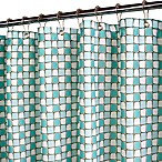 Park B. Smith® Urban Tiles Aquamarine 72-Inch x 72-Inch Watershed® Shower Curtain