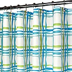 Park B. Smith® Wavy Plaid Blue 72-Inch x 72-Inch Watershed® Shower Curtain