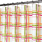 Park B. Smith® Wavy Plaid Tangelo 72-Inch x 72-Inch Watershed® Shower Curtain