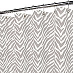 Park B. Smith® Zebra Zebra Silver 72-Inch x 72-Inch Watershed® Shower Curtain