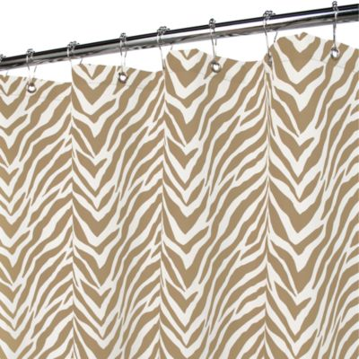 Watershed® Single Solution® 2-in-1 Zebra 72-Inch x 72-Inch Shower Curtain in Taupe