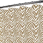 Park B. Smith® Zebra Zebra Taupe 72-Inch x 72-Inch Watershed® Shower Curtain
