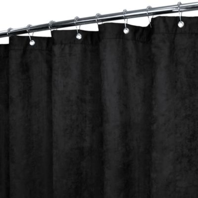 Park B. Smith® Rich Suede Black 72-Inch x 72-Inch Watershed® Shower Curtain