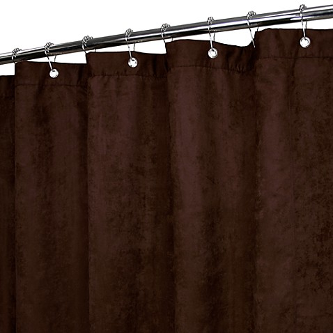Park B. Smith® Rich Suede Chocolate 72-Inch x 72-Inch Watershed® Shower Curtain