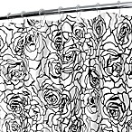 Park B. Smith® Cabbage Rose White 72-Inch x 72-Inch Watershed® Shower Curtain