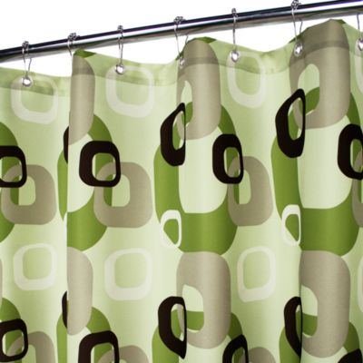 Park B. Smith® Geo Squares Green 72-Inch x 72-Inch Watershed® Shower Curtain