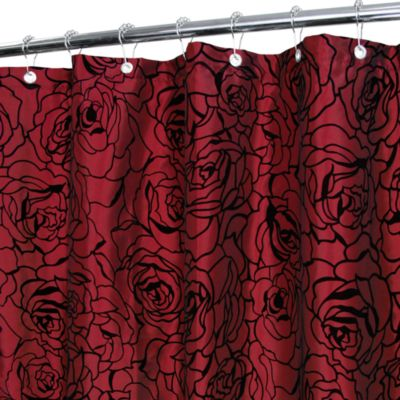 Park B. Smith® Cabbage Rose Brick 72-Inch x 72-Inch Watershed® Shower Curtain