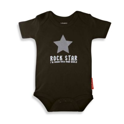 Silly Souls® Rock Star Size 6-12 months Bodysuit in Black