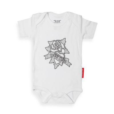 Silly Souls® True Love Bodysuit in White