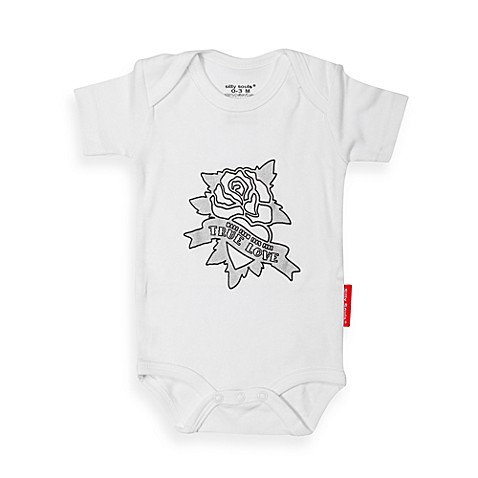 Silly Souls® True Love Size 3-6 months Bodysuit in White