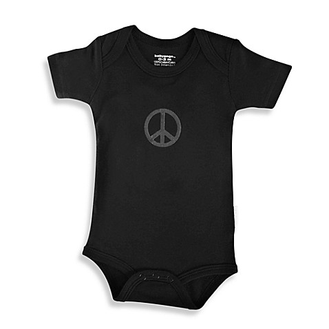 Silly Souls® Peace Size 0-3 months Bodysuit in Black