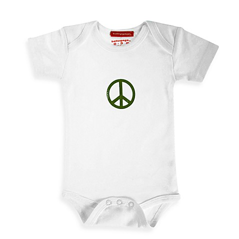 Silly Souls® Peace Size 3-6 months Bodysuit in White