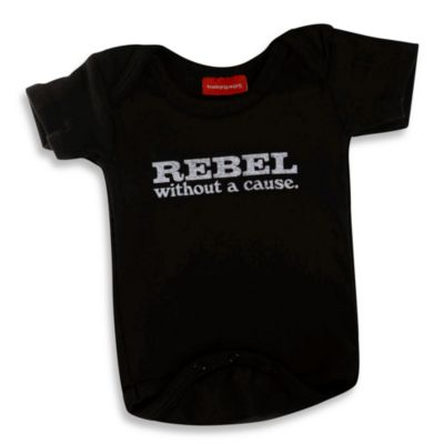 Silly Souls® Rebel Size 3-6 months Bodysuit in Black