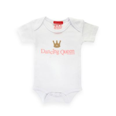 Silly Souls® Dancing Queen Size 0-3 months Bodysuit in White