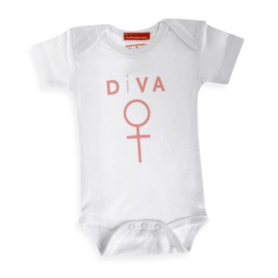 Silly Souls® Diva Size 0-3 months Bodysuit in White