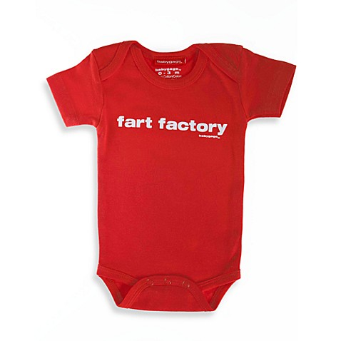 Silly Souls® Fart Factory Size 0-3 months Bodysuit in Red