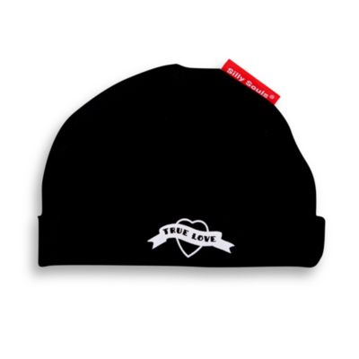 Silly Souls® True Love Size 12 Months Beanie in Black